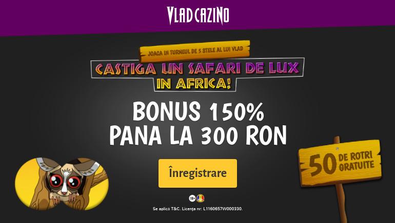 Vlad Cazino te Întâmpină cu un Bonus de Bun Venit