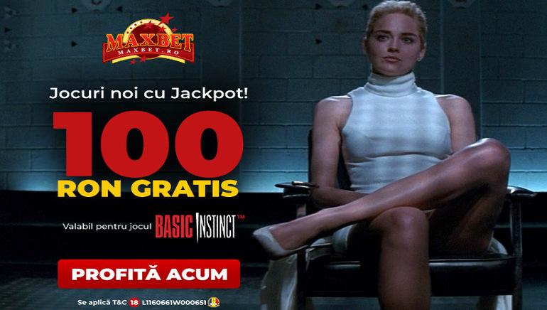 MaxBet Casino te Premiază cu 100 RON în Promoția Basic Instinct