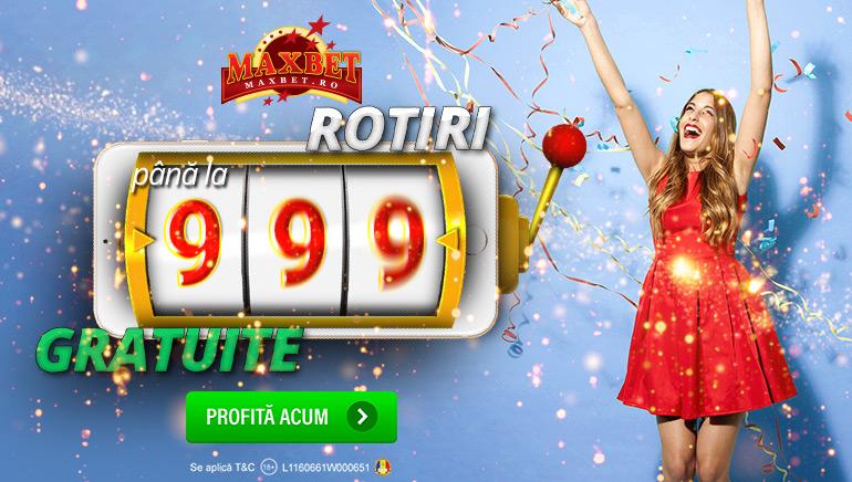 MaxBet Casino îți Oferă 999 Rotiri Gratuite de Bun Venit