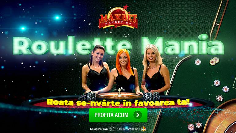 Dacă e Miercuri, E Roulette Mania la Maxbet Casino