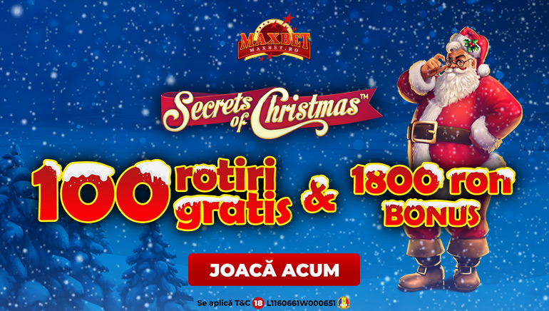 Descoperă Secretele Crăciunului cu 100 de Rotiri Gratis la Maxbet Casino