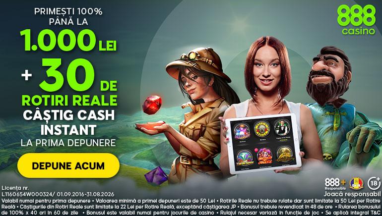 888 Casino te Întâmpină cu un Bonus de Bun Venit și Rotiri Reale