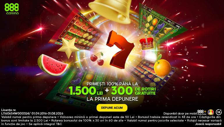 888casino te Premiează cu 1.500 Lei și 300 Rotiri Gratuite la Sloturi Netent