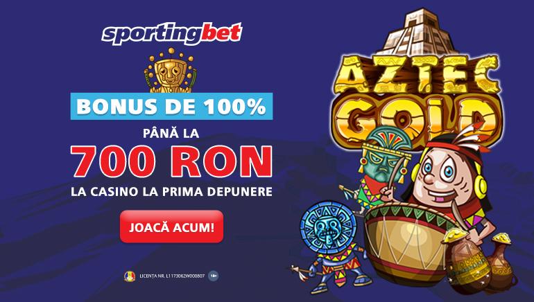 Sportingbet Cazino te Întâmpină cu Un Bonus Generos de Bun Venit