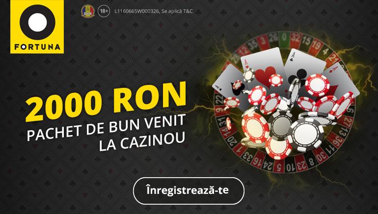 Fortuna Casino te Surprinde cu un Pachet the Bun Venit