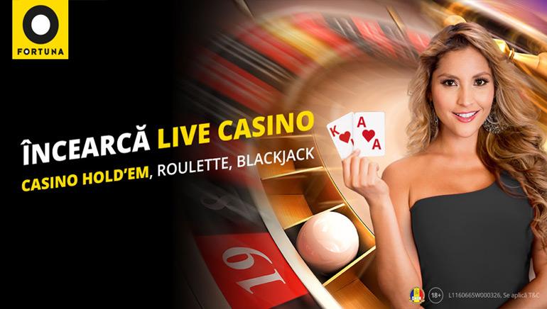 eFortuna Introduce Jocurile cu Dealeri Live