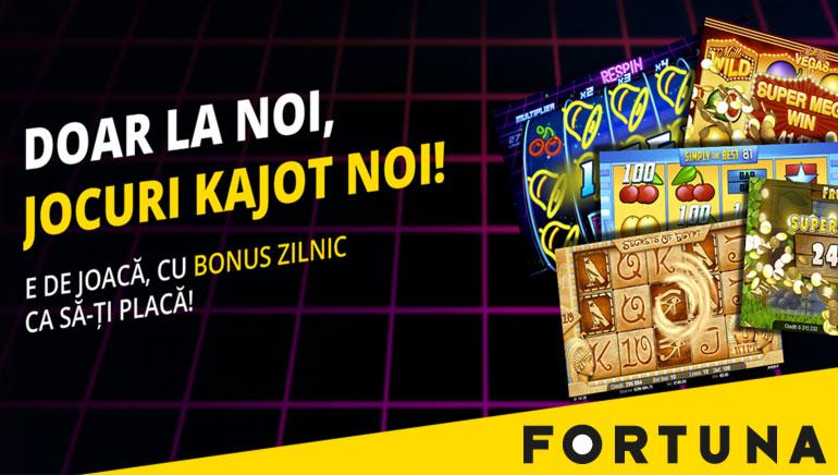 Promoție Exclusive la eFortuna Casino pentru Jocurile Kajot
