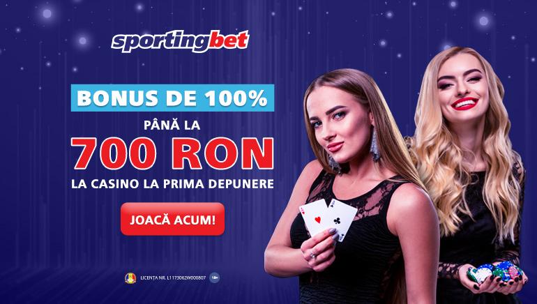 SportingBet - BONUS DE BUN VENIT lei700 Termeni și condiții Aplicați - 100% Bonus Egal