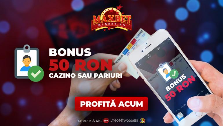 Maxbet Oferă 50 RON Gratuit Jucătorilor Noi