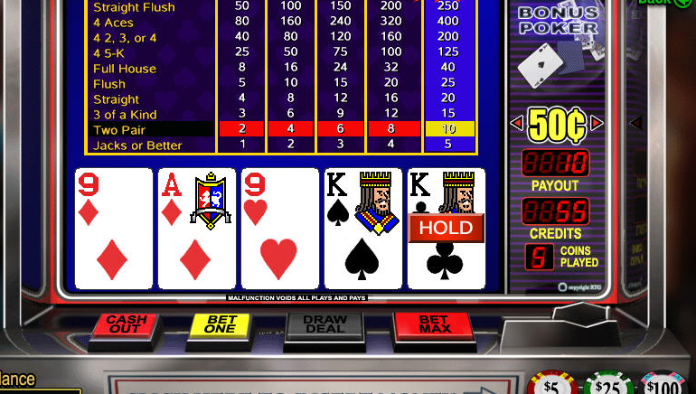 Video Poker Online Gratuit